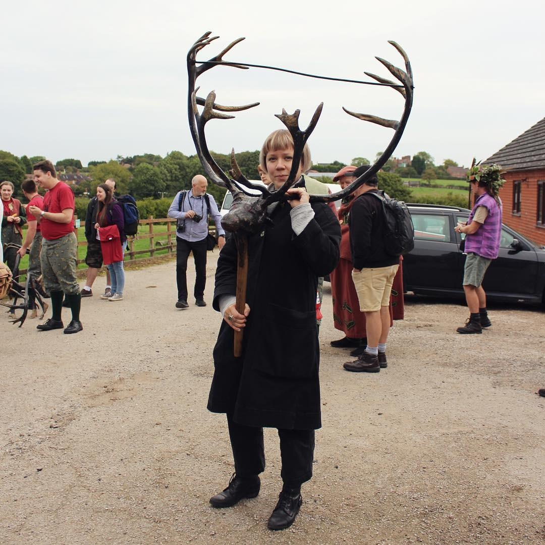 Hanna Tuulikki with antlers